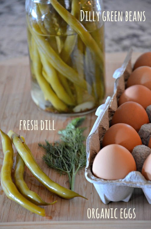 dilly bean egg salad ingredients, www.mountainmamacooks.com