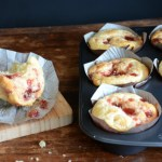 Raspberry-Peach Jam Breakfast Muffins, www.mountainmamacooks.com