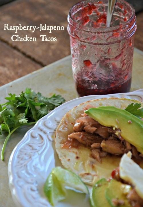 Raspberry-Jalapeno Chicken Tacos, www.mountainmamacooks.com