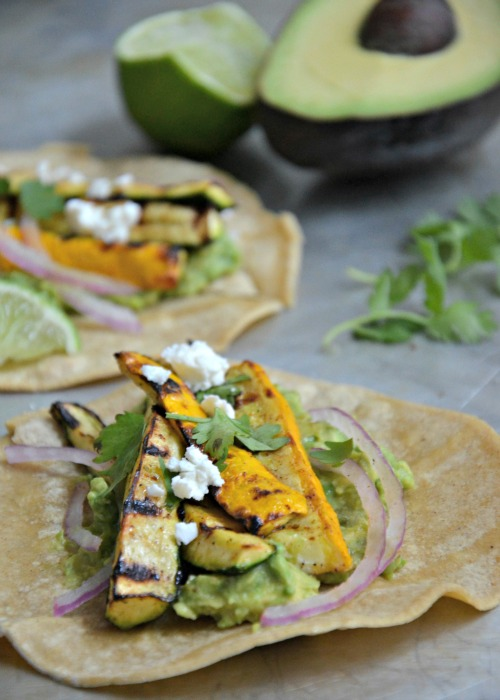 Taco Tuesday Grilled Summer Squash Tacos, www.mountainmamacooks.com