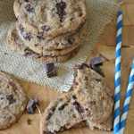 Whole Wheat Chocolate Chunk Cookies with Sea Salt, www.mountainmamacooks.com