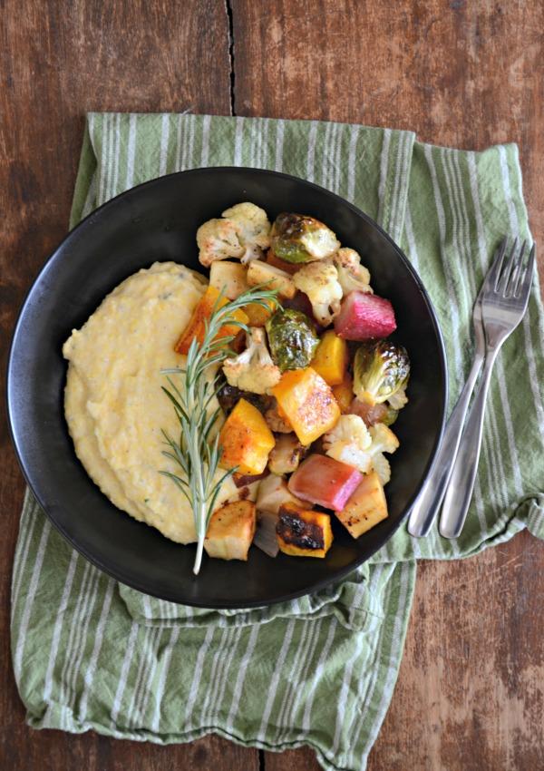 creamy-polenta-and-maple-sea-salt-roasted-vegetables-recipe