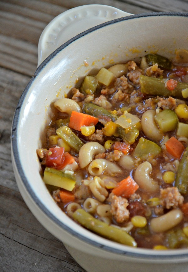 Ski Soup with Italian Sausage | mountainmamacooks.com