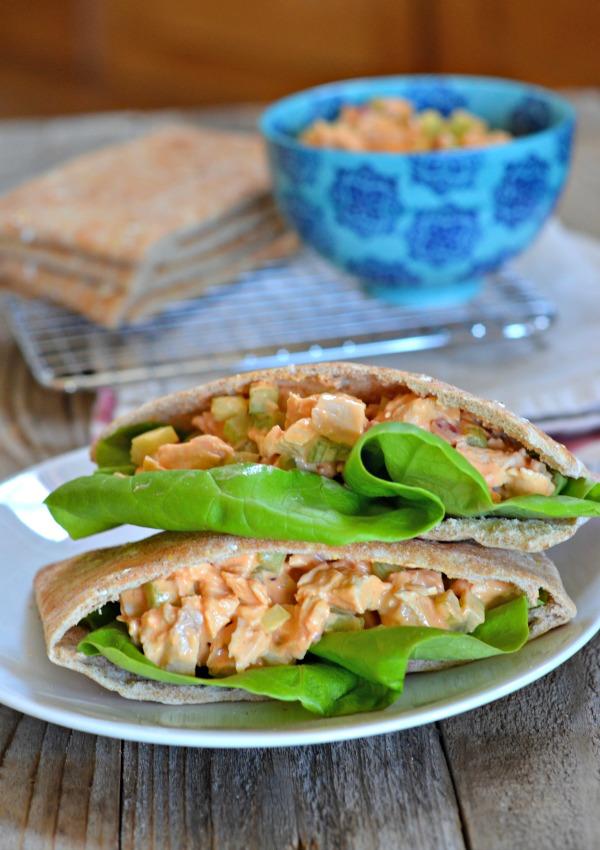 Lightened Up Buffalo Chicken Salad Sandwiches   mountainmamacooks.com
