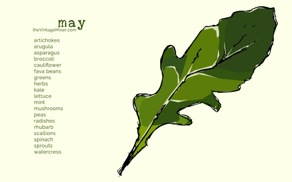 Seasonal Produce List May | mountainmamacooks.com