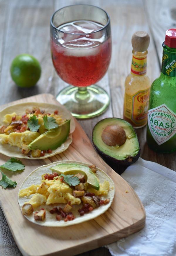 Egg, Pancetta and Potato Breakfast Tacos   mountainmamacooks.com