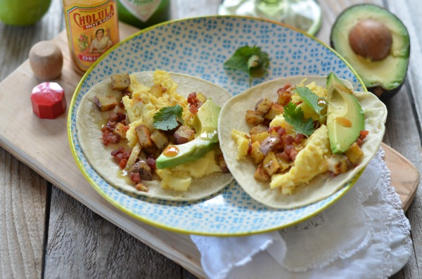 Egg, Pancetta and Potato Breakfast Tacos | mountainmamacooks.com