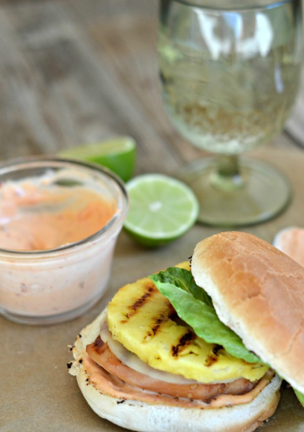 Grilled Teriyaki Chicken and Pineapple Sandwich | mountainmamacooks.com