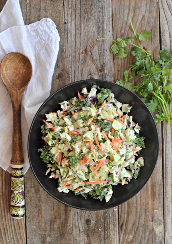 Cilantro Coleslaw Recipe | mountainmamacooks.com