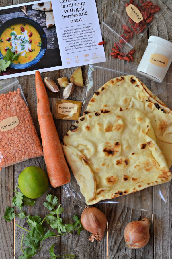 Sun Basket Review & Curried Lentil Soup | mountainmamacooks.com