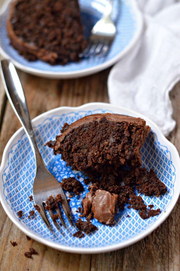 Triple Chocolate Zucchini Bundt Cake | mountainmamacooks.com