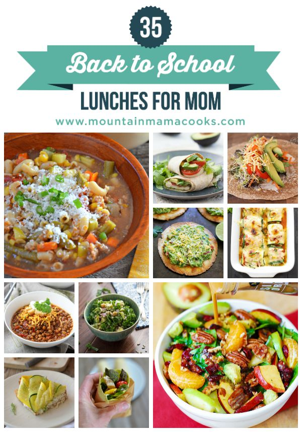 Back to School Lunches Just for Mom! www.mountainmamacooks.com