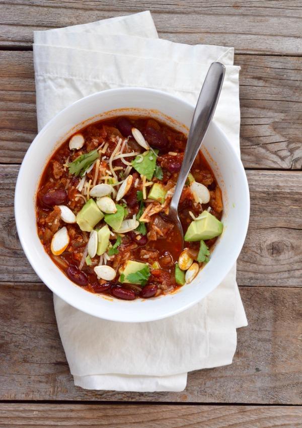 Sweet & Smokey Turkey Chili | Maple Cookbook | mountainmamacooks.com