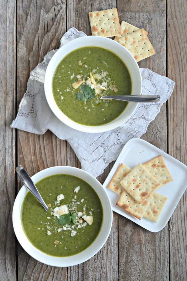 Potato Leek Soup with Kale | mountainmamacooks.com #EatSeasonal