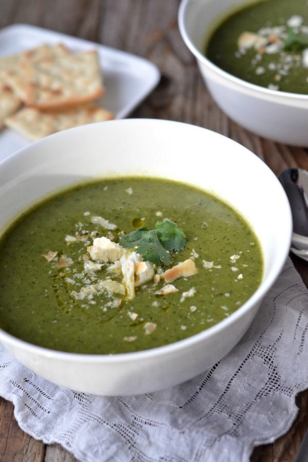 Potato Leek Soup with Kale | mountainmamacooks.com #EatSeasonal