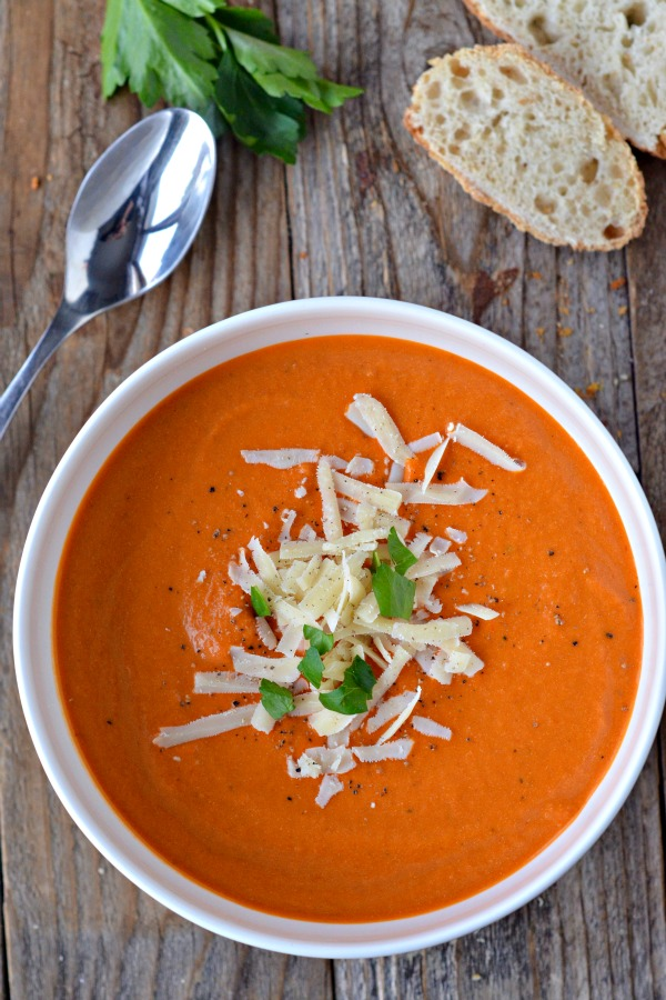 Nordstrom's Tomato Basil Soup | mountainmamacooks.com