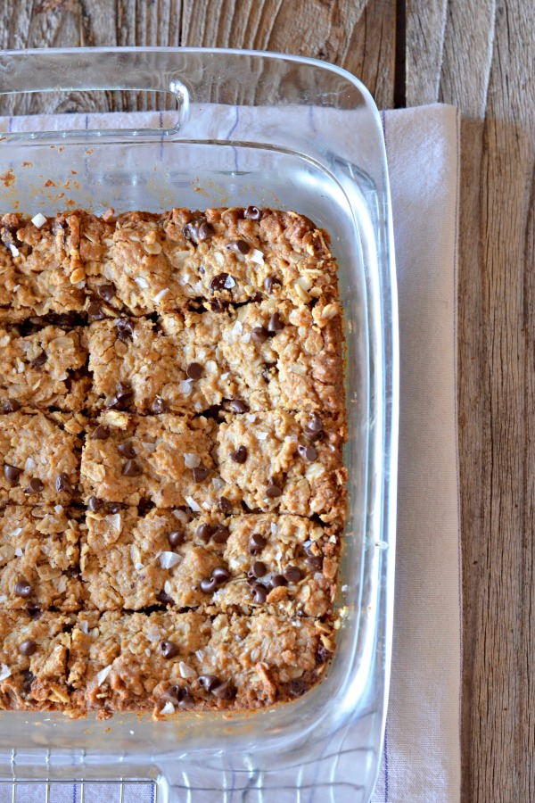 Chewy Peanut Butter Granola Bars   mountainmamacooks.com