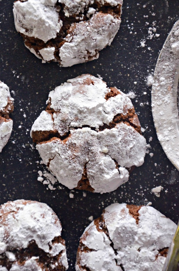 Coconut Oil Chocolate Crinkles | mountainmamacooks.com