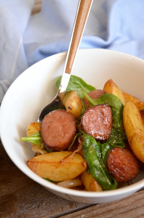 Kielbasa Potato Hash | mountainmamacooks.com