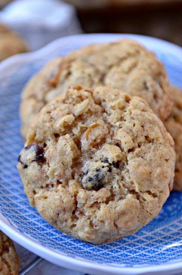 Pumpkin Spice Oatmeal Raisin Cookies | www.mountainmamacooks.com