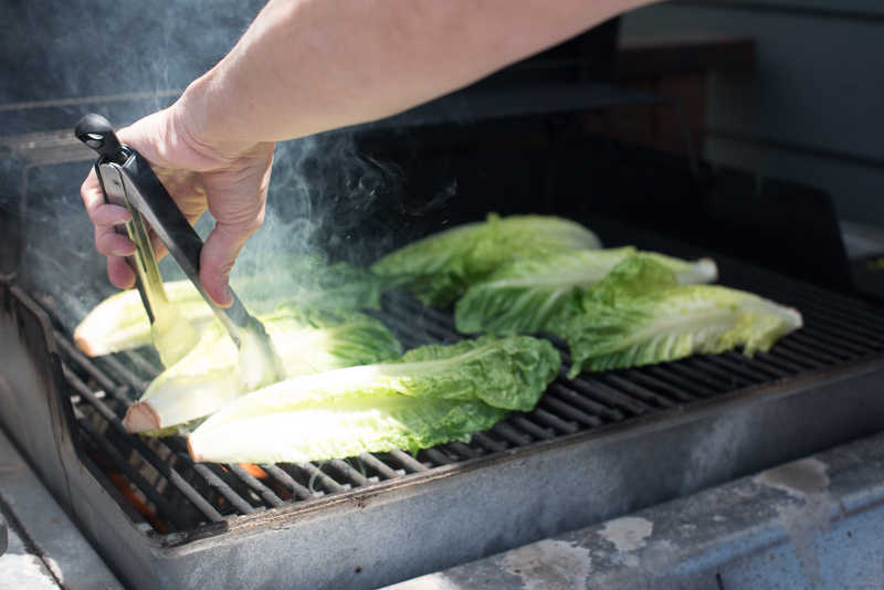 Grilled Romaine with Green Goddess Dressing | www.mountainmamacooks.com