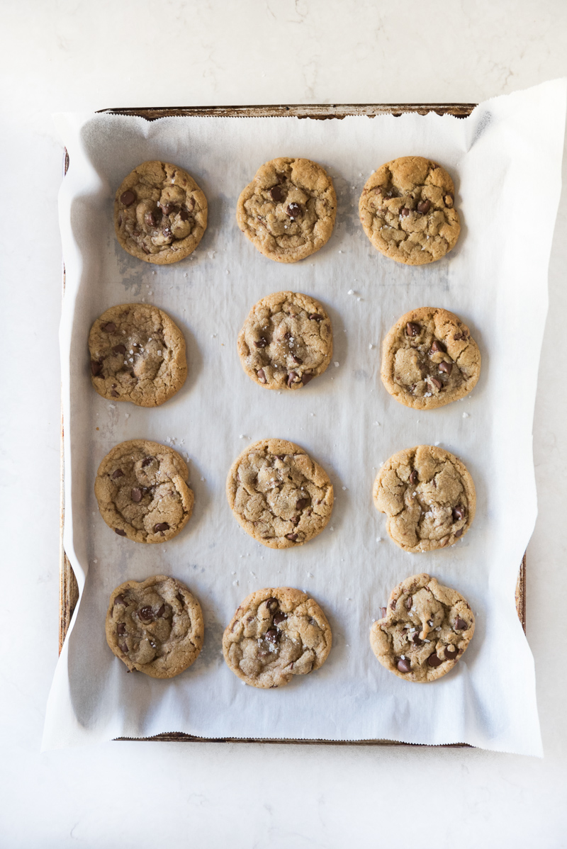 The ultimate chocolate chip cookie right here! Brown butter, toffee chips, and chocolate chips. Crispy on the edges and soft and doughy inside. So, so good! They're sure to become your favorite high altitude cookie as well! www.mountainmamacooks.com