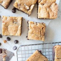 A brownie chocolate chip cookie bar that is absolutely epic. www.mountainmamacooks.com