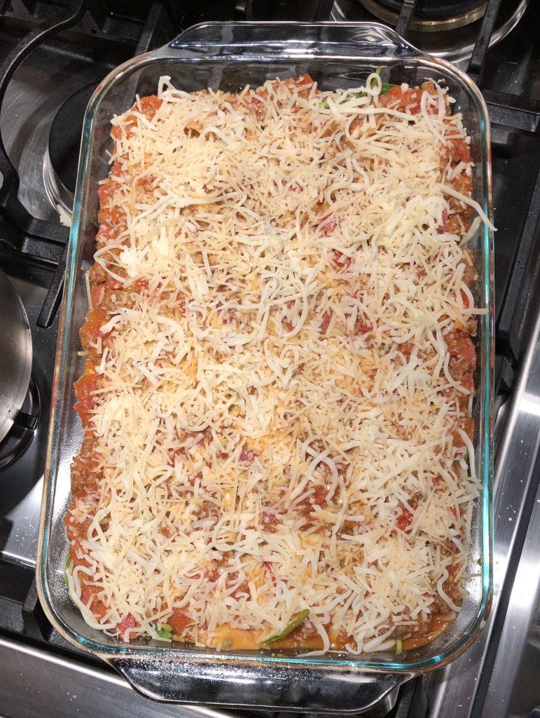 lasagna ready for baking