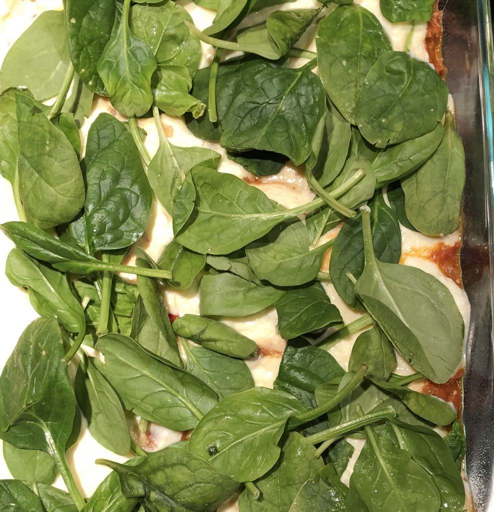 spinach layer in lasagna