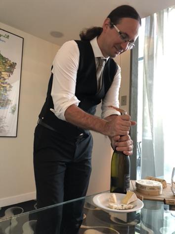 Sommelier for wine pairing