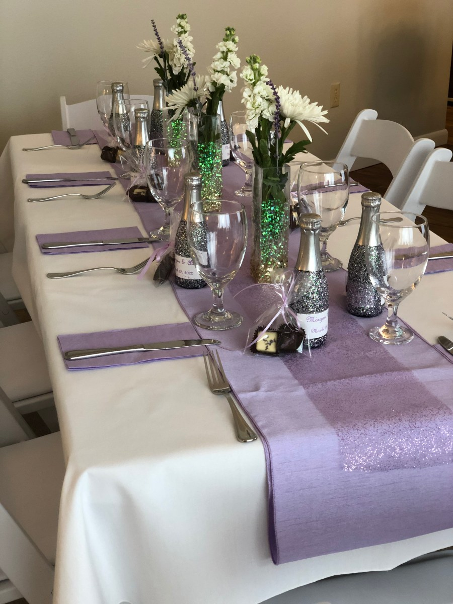 decorated table for shower