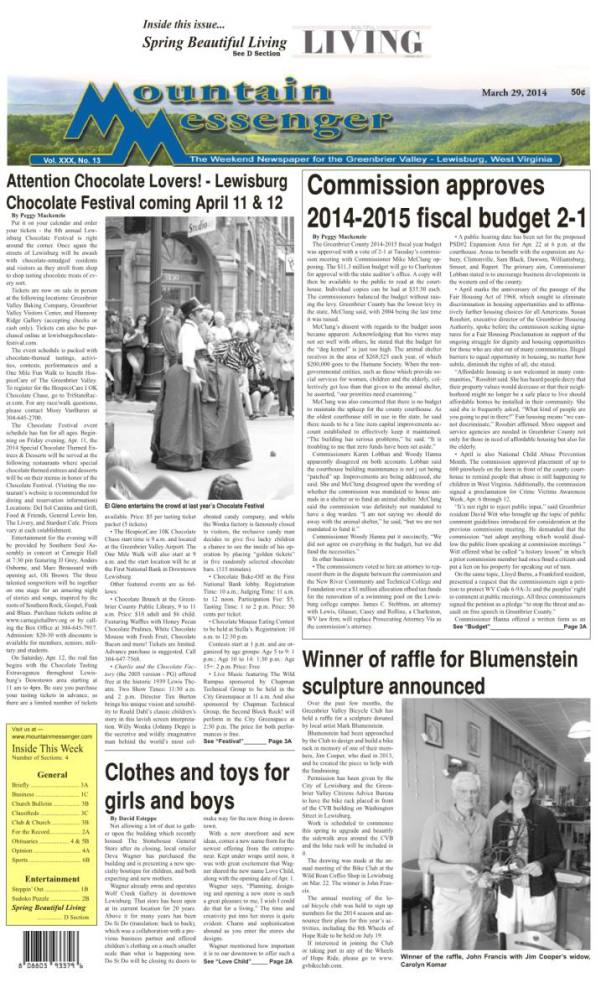 eMessenger for March 29, 2014