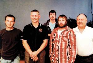 Community Center Youth Auxiliary members: Jarred Terry (left), Josh Boswell, Scott Stacy, Travis Bowyer and President Rick Parker. (Not pictured: Zach Boswell)