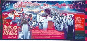 Civil War mural created by Pocahontas Countian Molly Must, to be dedicated in Marlinton on Palm Sunday, the 150th anniversary of Lee's surrender at Appomattox.