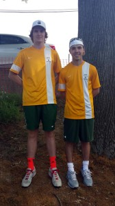 Greenbrier East High School's men's tennis team finishes their undefeated regular season. #1 singles seed, Cordel Bostic (left) will be competing in the State Tournament as well as competing in the State Tournament in doubles with his #2 seed partner Mickell Ridgeway (right).