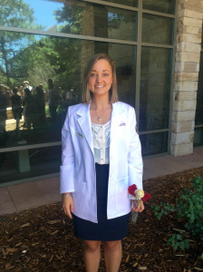 Annie Ickes of Lewisburg graduated Summa Cum Laude from Virginia Tech in May and recently received her white coat as a student doctor at Rocky Vista University in Parker, Colorado. She is the daughter of Larry and Katie Ickes of Lewisburg and the grand-daughter of Phyllis Crickenberger of Lewisburg and Jean and Lee Ickes of Nokomis, Florida.