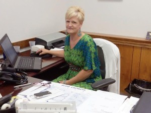 Greenbrier Co. Clerk Robin Loudermilk busy at work in the courthouse in Lewisburg. She took a time out to answer a few questions about the marriage license controversy in Rowan County, Kentucky, and why that same problem did not occur here.