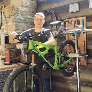 Bicycle technician Stu Schwab, who worked with Hill and Holler and is opening Appalachian Bicycle Company in downtown Lewisburg this March.