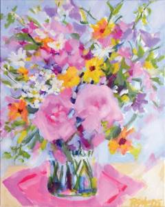 Floral painting by Pamela Gatens
