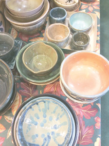 The United Way of Greenbrier Valley's event, Empty Bowls, will be held Nov. 3. Pictured: some of the bowls handcrafted for the event.