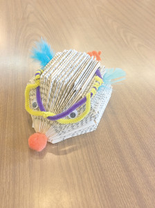 Make a Book-Hedgie at the White Sulphur Springs Library Pinterest event