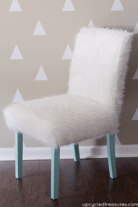 Whimsical Faux Fur Office Chair Makeover ...