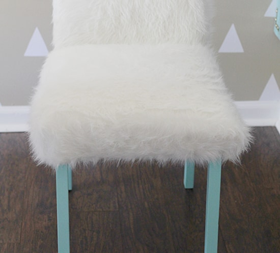 Whimsical Faux Fur Office Chair Makeover