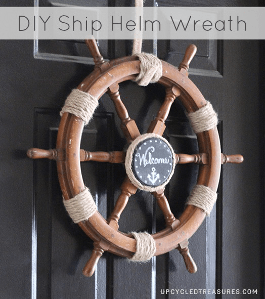 Upcycle A Ship Helm Into A Nautical Wreath