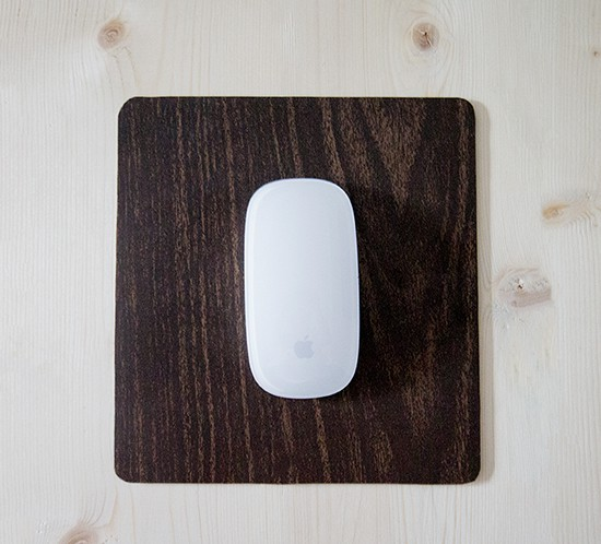 rustic modern mousepad makeover with contact paper mountainmodernlife.com
