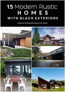 Modern Rustic Homes Exteriors with Black