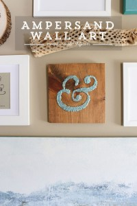 DIY Ampersand Wall Art Using Thumbtacks