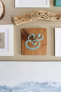 DIY Ampersand Wall Art Using Thumbtacks ...