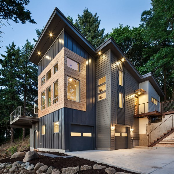 Modern Rustic Homes With Black Exteriors Mountain