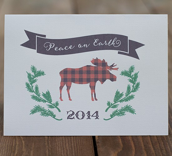 moose printable card mountainmodernlife.com